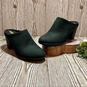 Clarks Black Leather Enfield Sandy Mule